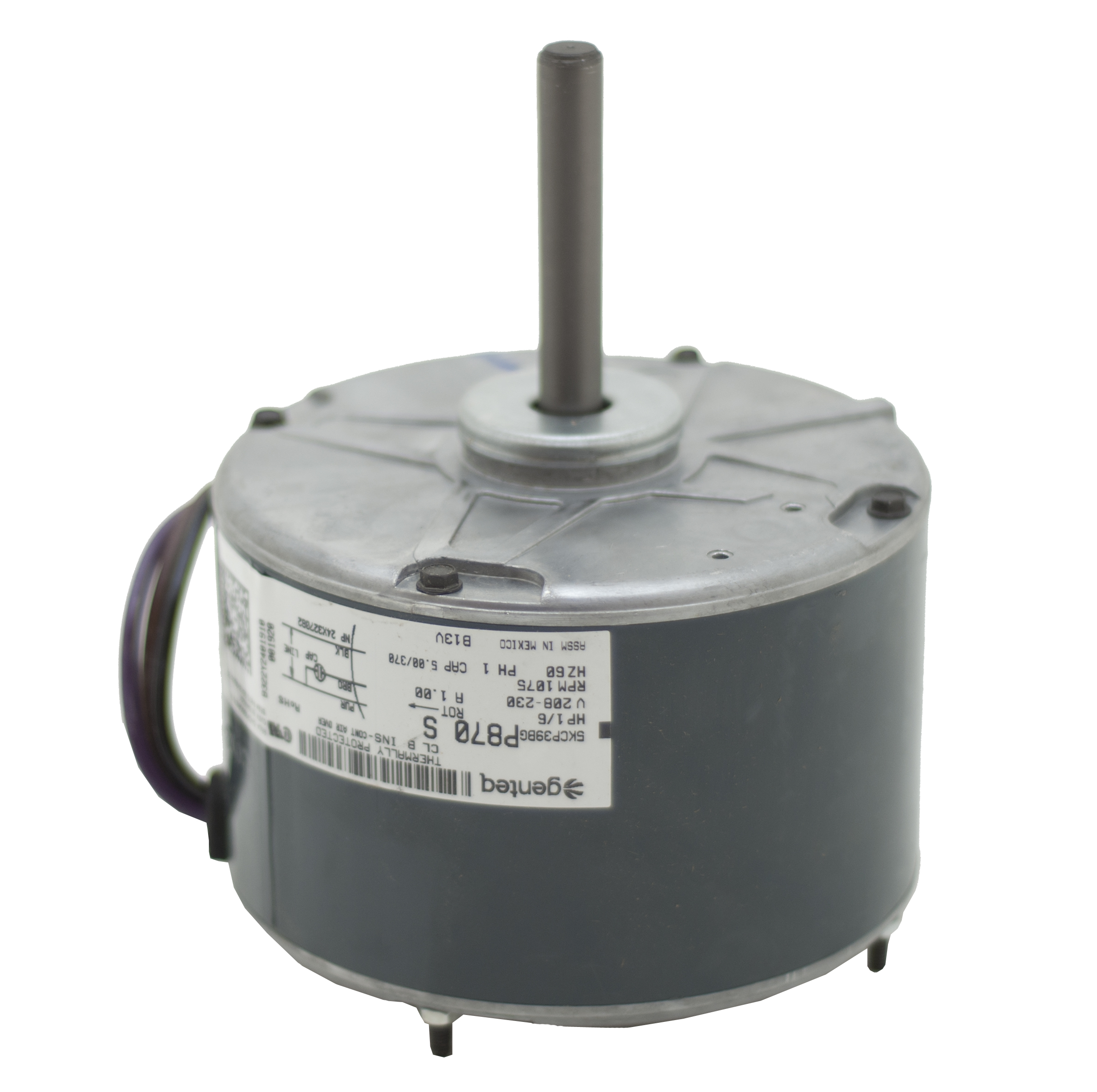 B13400251S condenser fan motor b13400251s goodman amana 1 6 hp 1 speed goodman ck24-1b wiring diagram at reclaimingppi.co