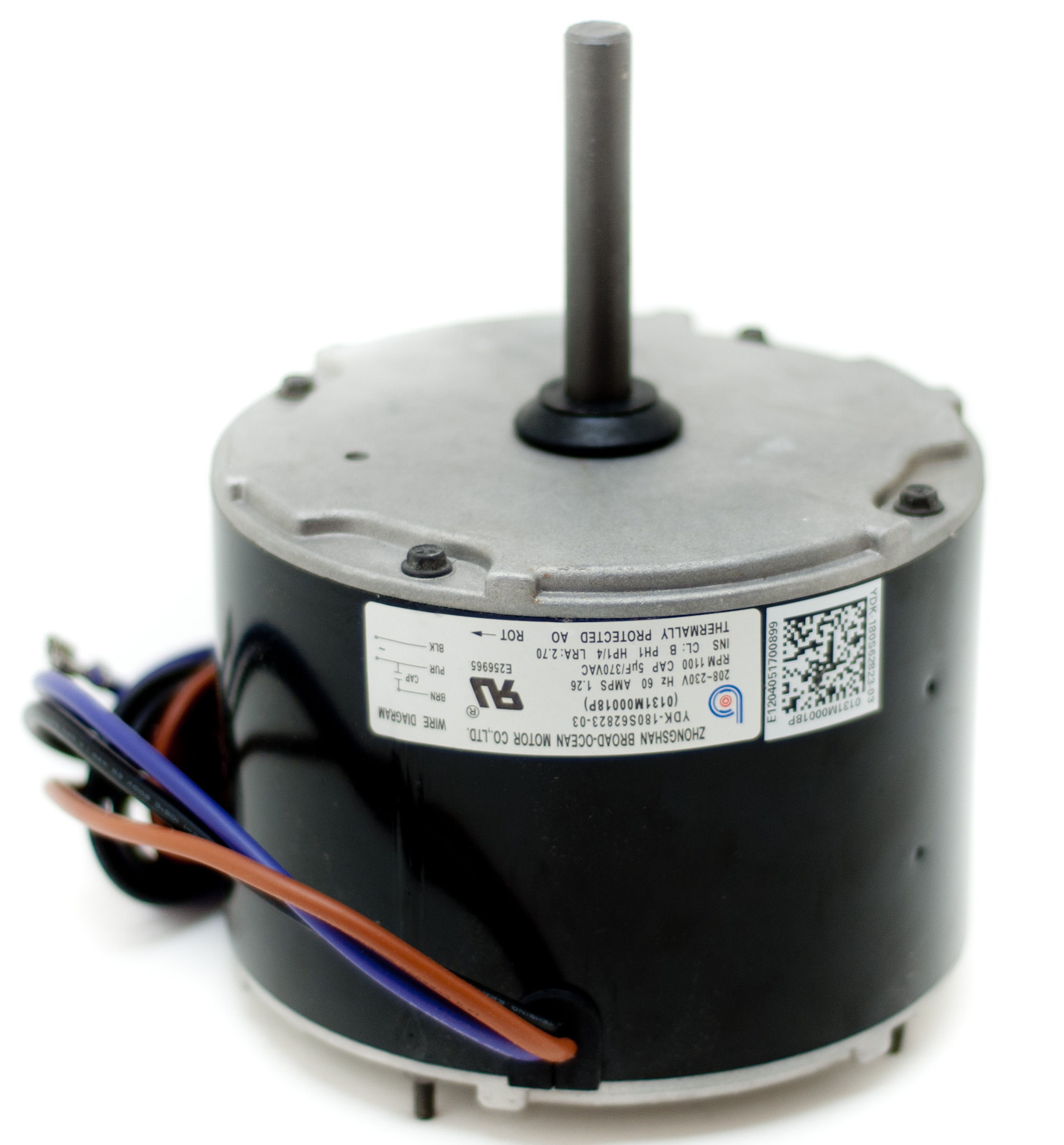 Ac air conditioner condenser fan motor 1 emerson motors 1 for Air conditioner compressor motor