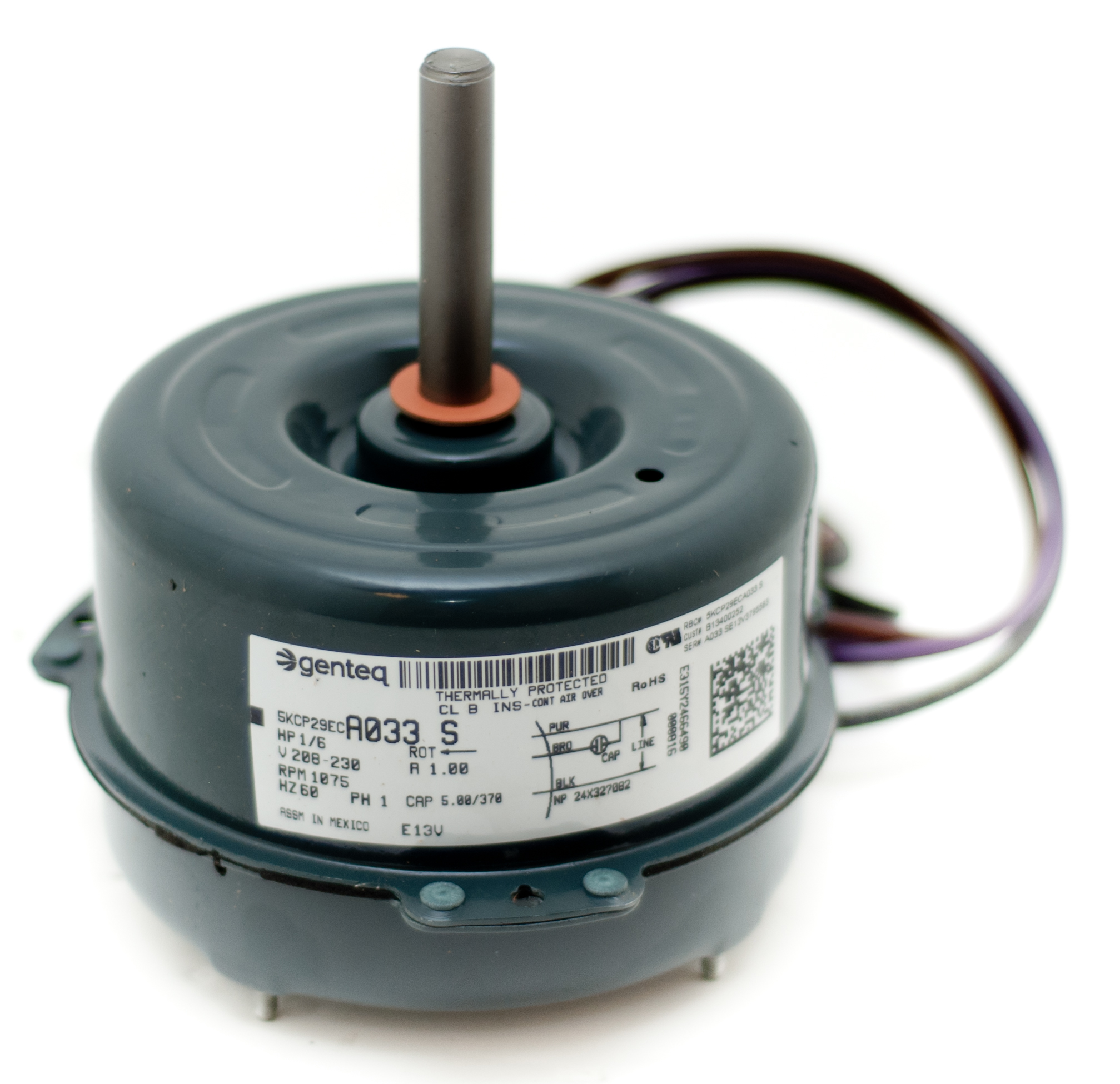Condenser fan motor b13400252s goodman janitrol 1 6 hp 1 for Air conditioner compressor motor